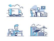 Двигать и хранение в складе бесплатная иллюстрация