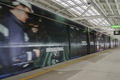 Двигать поезда неба Стоковое Изображение RF