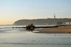 Двигать пляжа Стоковое фото RF