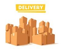 Двигать с коробками Компания перехода alien кот шаржа избегает вектор крыши иллюстрации иллюстрация штока