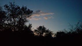 Двигать с облаками Стоковые Изображения RF