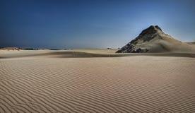 Двигая дюны, Польша, полдень стоковое изображение rf