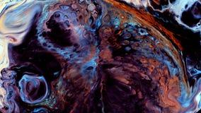 Движение абстрактной красочной краски жидкостное художественное видеоматериал