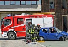 движение аварии разрушенное автомобилем Стоковые Фотографии RF