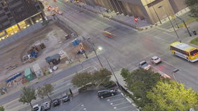 Движение восхода солнца Далласа городское сток-видео