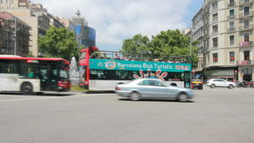 Движение в Барселоне видеоматериал