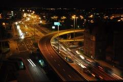 Движение в городе на ноче Стоковые Фотографии RF