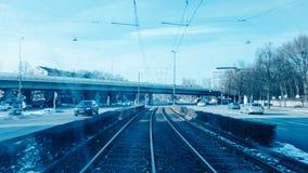 Движение в Мюнхене shooten от трамвая стоковые фотографии rf