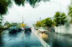 Движение в шторме проливного дождя Стоковые Изображения RF