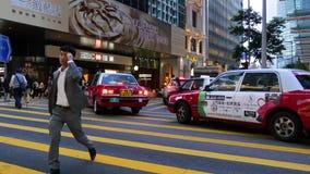 Движение Гонконга в вечере акции видеоматериалы