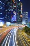 Движение города на ноче Стоковые Изображения