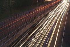 движение города светлое Стоковые Фотографии RF