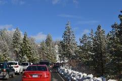 Движение горы Сан Бернардино к Big Bear Стоковые Фото