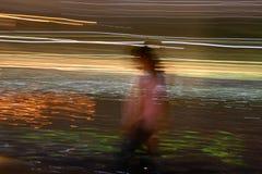 движение девушки Стоковая Фотография