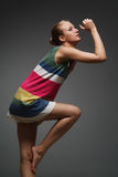 движение девушки Стоковое Фото