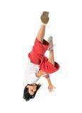 движение девушки breakdancer холодное Стоковая Фотография