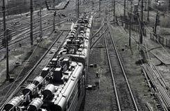 движение железной дороги центра Стоковая Фотография