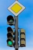 движение зеленого света Стоковое Изображение