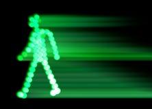 движение зеленого света Стоковые Фотографии RF