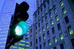 движение зеленого света Стоковые Изображения RF
