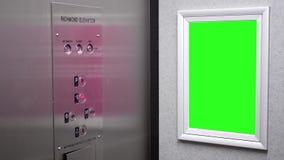Движение зеленой афиши для вашего объявления сток-видео