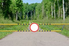 Движение знака запрещая Стоковое Изображение RF