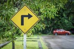 движение знака красных тесемок указателя рамки крюковины грубое деревянное Стоковое Изображение