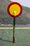 Движение ` знака уличного движения запретило ` на пароме моря Стоковая Фотография RF