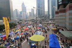 Движение зонтика Адмиралитейства в Гонконге Стоковые Фото