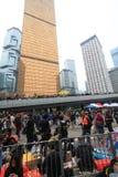 Движение зонтика Адмиралитейства в Гонконге Стоковые Изображения RF