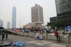 Движение зонтика Адмиралитейства в Гонконге Стоковое Изображение RF