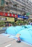 Движение зонтика в Гонконге Стоковая Фотография