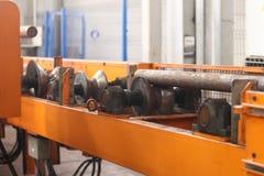 Движение длинного металлического стержня Стоковое Изображение