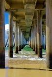 Движение и unmovable, океаны и пристани Стоковая Фотография