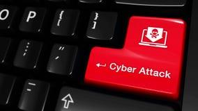 64 Движение кибер атаки Moving на кнопке клавиатуры компьютера бесплатная иллюстрация