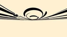Движение конспекта красивое быстрое черных широких изогнутых линий на бежевой предпосылке, безшовной петле r Вращая круг бесплатная иллюстрация