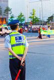 Движение корейской полиции полицейския заднее сразу Стоковая Фотография