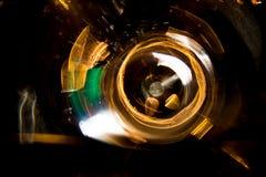Движение круга высокого разрешения абстрактное накаляя запачкало предпосылку в темная яркая красной, зеленый, желтый, голубой Стоковое Изображение RF