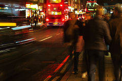Движение Лондон на ноче Стоковое Фото