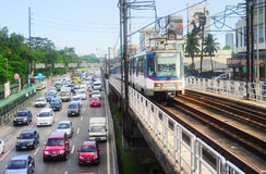 Движение Манилы, Филиппины стоковое изображение