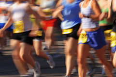 движение марафона камеры нерезкости Стоковые Изображения RF
