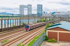Движение метро Сеула в городе Сеула, Южной Корее стоковая фотография rf