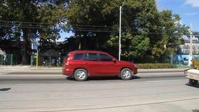 Движение на дороге в Camaguey акции видеоматериалы