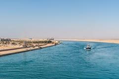 Движение на канале Суэца в Египте стоковое фото rf