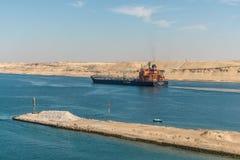 Движение на канале Суэца в Египте стоковое изображение rf