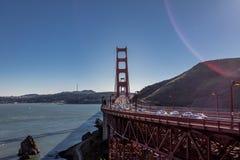 Движение на мосте золотого строба - Сан-Франциско, Калифорнии, США Стоковые Фотографии RF