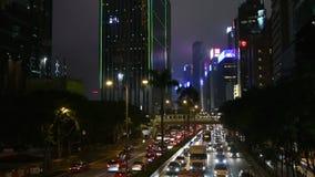 Движение на дорогах на ноче видеоматериал