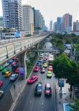 Движение на улице в Бангкоке Стоковое Изображение RF