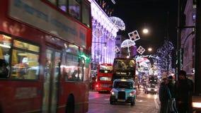 Движение на улице Оксфорда, Лондоне видеоматериал