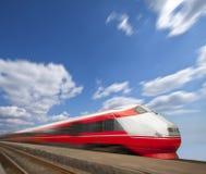 движение нерезкости быстрое проходя поезд Стоковая Фотография